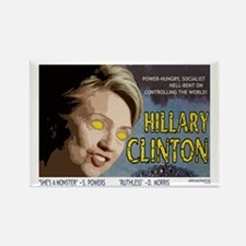 Hillary Clinton Monster Rectangle Magnet