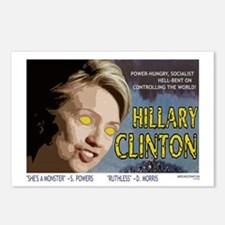 Hillary Clinton Monster Postcards (Package of 8)
