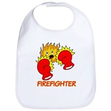 Firefighter Cartoon Bib