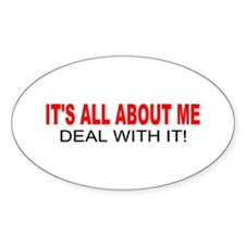 ALL ABOUT ME Oval Decal