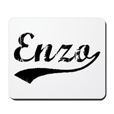 Vintage Enzo (Black) Mousepad