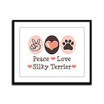 Peace Love Silky Terrier Framed Panel Print