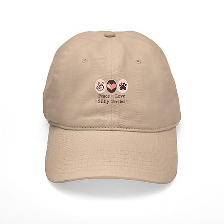 Peace Love Silky Terrier Cap
