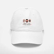 Peace Love Silky Terrier Baseball Baseball Cap
