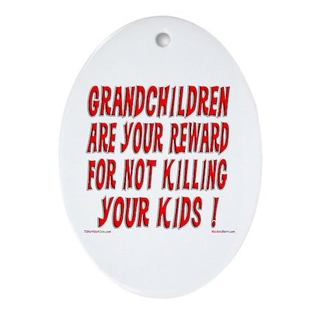 Grandchildren Reward Oval Ornament