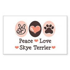 Peace Love Skye Terrier Rectangle Decal