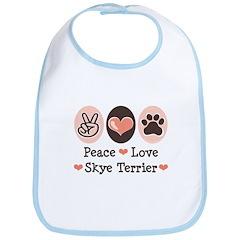 Peace Love Skye Terrier Bib