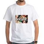 Buttons - Create - Sewing Cra White T-Shirt