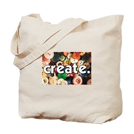 Buttons - Create - Sewing Cra Tote Bag