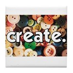 Buttons - Create - Sewing Cra Tile Coaster