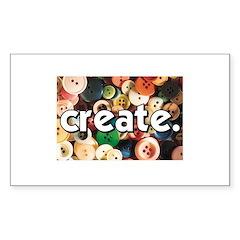 Buttons - Create - Sewing Cra Sticker (Rectangular