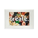 Buttons - Create - Sewing Cra Rectangle Magnet (10