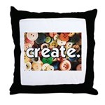 Buttons - Create - Sewing Cra Throw Pillow