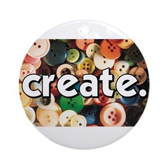 Buttons - Create - Sewing Cra Ornament (Round)
