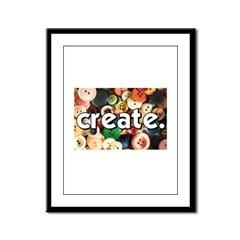 Buttons - Create - Sewing Cra Framed Panel Print