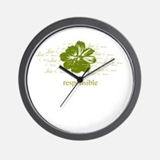 responsible Wall Clock