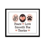 Peace Love Smooth Fox Terrier Framed Panel Print