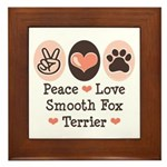 Peace Love Smooth Fox Terrier Framed Tile