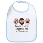 Peace Love Smooth Fox Terrier Bib