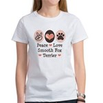 Peace Love Smooth Fox Terrier Women's T-Shirt