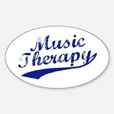 Team Music Therapy Oval Decal
