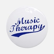 Team Music Therapy Ornament (Round)