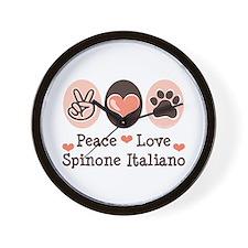 Peace Love Spinone Italiano Wall Clock