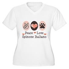 Peace Love Spinone Italiano T-Shirt