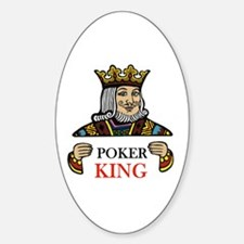 POKER KING Oval Decal