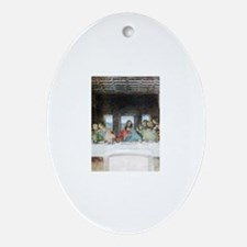 Last Supper Oval Ornament