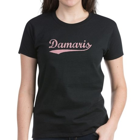 Vintage Damaris (Pink) Women's Dark T-Shirt