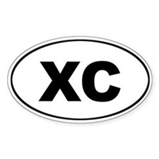 XC Cross Country Euro Oval Decal