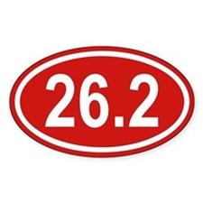 26.2 Marathon Red Euro Oval Decal