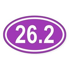 26.2 Marathon Purple Euro Oval Decal