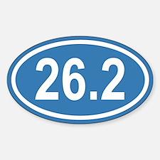26.2 Marathon Blue Euro Oval Decal