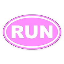 RUN Running Pink Euro Oval Decal