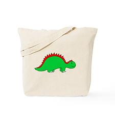 Smiling Green Stegosaurus Tote Bag