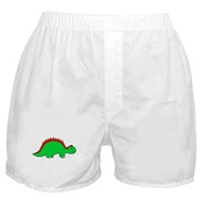 Smiling Green Stegosaurus Boxer Shorts