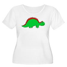 Smiling Green Stegosaurus T-Shirt