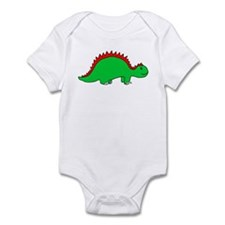 Smiling Green Stegosaurus Infant Bodysuit