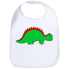 Smiling Green Stegosaurus Bib