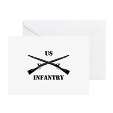 Infantry Branch Insignia (3b) Greeting Cards (Pk o