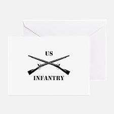 Infantry Branch Insignia (3b) Greeting Cards (Pk o