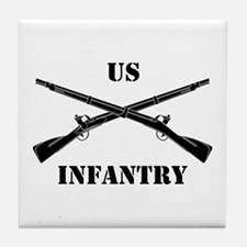 Infantry Branch Insignia (3b) Tile Coaster