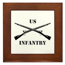 Infantry Branch Insignia (3b) Framed Tile