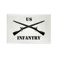 Infantry Branch Insignia (3b) Rectangle Magnet