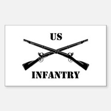 Infantry Branch Insignia (3b) Sticker (Rectangular