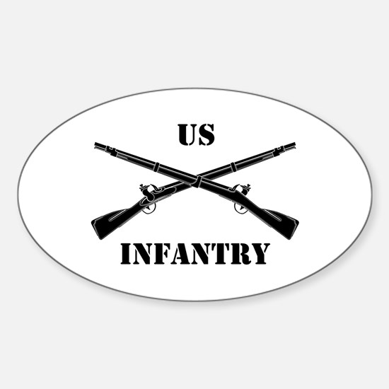 Infantry Branch Insignia (3b) Oval Decal