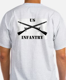 2-Sided Infantry Branch Insignia (3b) T-Shirt