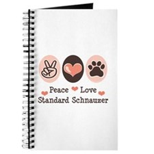 Peace Love Standard Schnauzer Journal